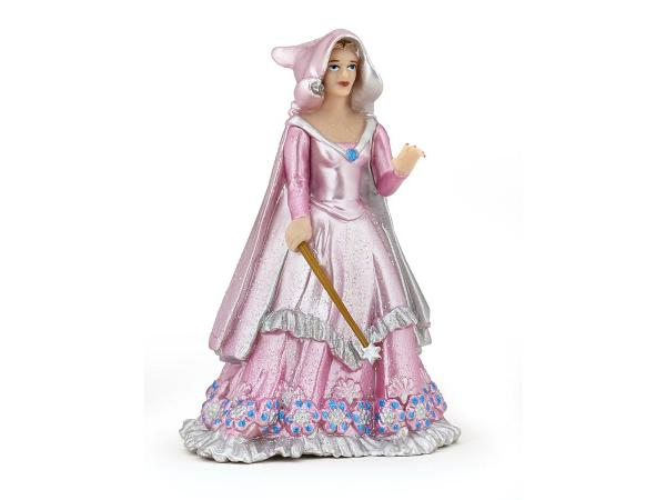 Figurine magicienne rose