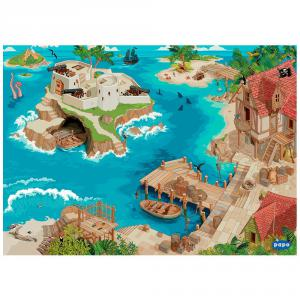 Papo - 60505 - Tapis de jeu Pirate - Dim. 133 cm x 95 cm x 0,2 cm (380806)