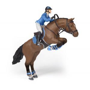 Papo - 51560 - Figurine Cheval de saut d'obstacle et sa cavalière (380838)
