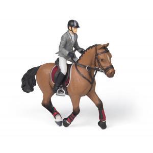 Papo - 51561 - Cheval de concours et son cavalier - Dim. 10 cm x 16 cm x 19 cm (380840)