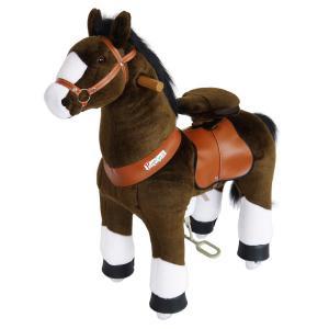 Ponycycle - N3152 - Cheval chocolat avec bas de jambes blancs hauteur siège 49 cm - dim. 62 x 28 x 76 cm (380954)