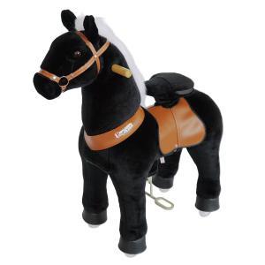 Ponycycle - N3181 - Cheval noir hauteur siège 49 cm - dim. 62 x 28 x 76 cm (380956)