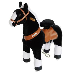 Ponycycle - N4182 - Cheval noir avec bas de jambes blancs hauteur siège 62 cm - dim. 80 x 34 x 93 cm (380972)