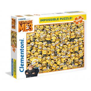 Clementoni - 39408 - Puzzle Impossible 1000 pièces - Minions 3 (Ax1) (380986)