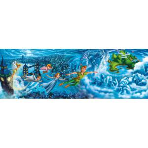 Clementoni - 39448 - Puzzles panorama 1000 pièces - Panorama - Peter Pan : Night Flights (380998)