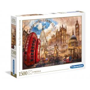 Clementoni - 31807 - Puzzles high quality collection 1500 pièces - Vintage London (Ax1) (381506)