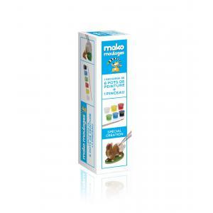 Mako moulages - 39027 - Kit recharge 6 pots de peint. quadri +1 pinceau sur broche (381542)