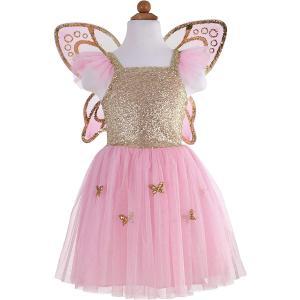Great Pretenders - 32325 - Robe de papillion avec ailles, or - 4/6 ans ans (381614)