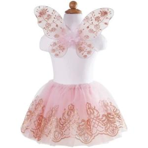 Great Pretenders - 44115 - Set Jupe & Ailes de luxe, or rose, taille EU 104-116 - Ages 3-7 years (381652)