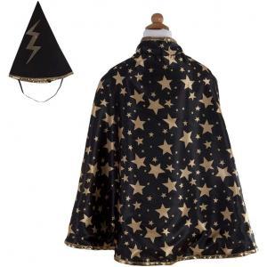 Great Pretenders - 61193 - Cape de magicien réversible avec chapeau, noir - 4/6 ans (381684)