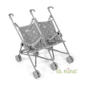 La nina - 62088 - Poussette double mini gaby (49x53x41 cm) (381796)