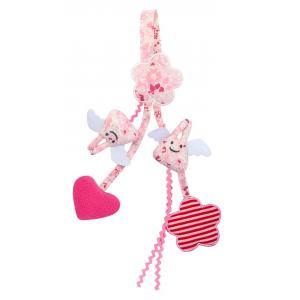 Trousselier - V1352 99 - Hochet Berceau Porte Tétine Fleurs Roses 20Cm (382828)
