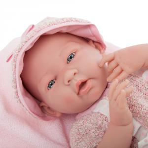 Berenguer - 18058 - Poupon Newborn nouveau né  sexué fille habillé avec pyjama à rayures (383256)