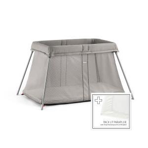 Babybjorn - 650002 - Lit Parapluie Grège + Drap-housse (383412)