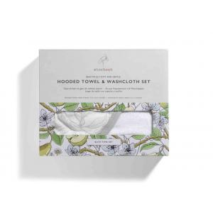 Storksak - SK0562 - Coffret Bain et gant de toilette imprimé jardin (384358)