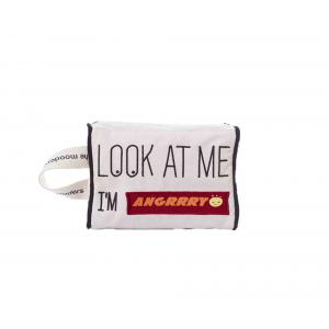 Mooders - BU180 - Trousse Moodcase écrue Patch ANGRY (384448)