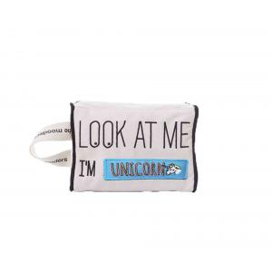 Mooders - BU153 - Trousse Moodcase écrue Patch UNICORN (384502)