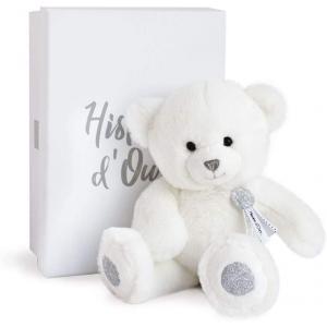 Histoire d'ours - HO2805 - Peluche ours charms - blanc - taille 24 cm - boîte cadeau (385796)