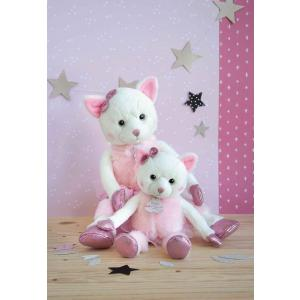 Histoire d'ours - HO2841 - Twist - misty (chat) - taille 25 cm - boîte cadeau (385896)
