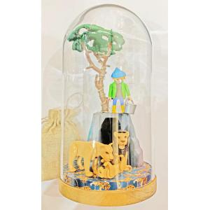 Mobilisation Générale - grand-10 - Veilleuse cloche Playmobil - Zoo - H27 cm x Diam.14 cm (385990)