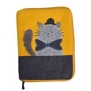 Moulin Roty - 666081 - Protège carnet de santé chat gris Les Moustaches (386178)