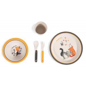 Moulin Roty - 666230 - Set vaisselle bambou Les Moustaches (386208)