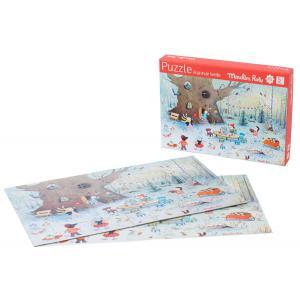 Moulin Roty - 632628 - Puzzle paysage d'hiver (45 pièces) La Grande famille (386268)