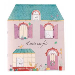Moulin Roty - 711377 - Cahier stickers Il était une fois - 20 pages (386366)