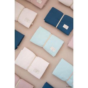 Nobodinoz - N107622 - Matelas à langer de voyage Mozart en coton bio 68x50 cm dream pink (386430)