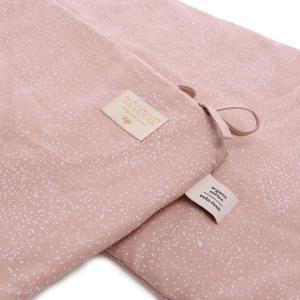 Nobodinoz - N096254 - Tour de lit Nest 207x32 cm white bubble - misty pink (386518)