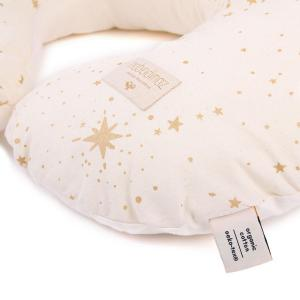 Nobodinoz - N098463 - Coussin d'allaitement Sunrise 50x60x15 cm gold stella - natural (386876)