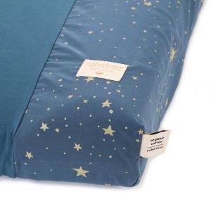 Nobodinoz - N098203 - Housse de matelas à langer Calma 70x50 cm en coton organique gold stella - night blue (386948)