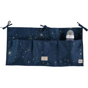 Nobodinoz - N099507 - Poches de rangement Merlin 30x60 cm gold stella - night blue (386994)