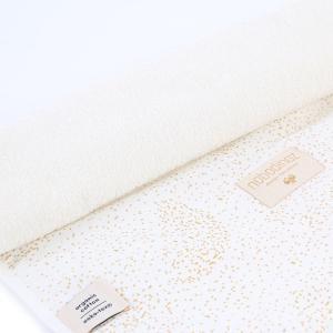 Nobodinoz - N097633 - Matelas à langer Nomad 60x35 cm en coton organique  gold bubble - white (387056)