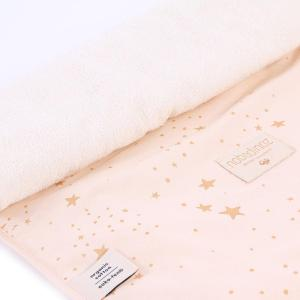 Nobodinoz - N097695 - Matelas à langer Nomad 60x35 cm en coton organique  gold stella - dream pink (387070)