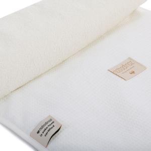Nobodinoz - N097794 - Matelas à langer Nomad 60x35 cm coton uni white (387080)