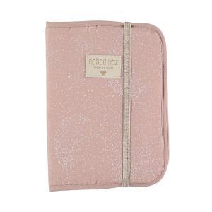 Nobodinoz - N098739 - Protège carnet de santé Poème 24x18 cm white bubble - misty pink (387446)