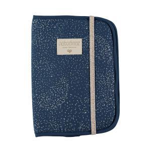 Nobodinoz - N098791 - Protège carnet de santé Poème 24x18 cm gold bubble - night blue (387448)