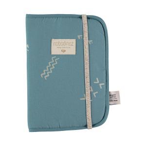 Nobodinoz - N098760 - Protège carnet de santé Poème 24x18 cm gold secrets - magic green (387458)