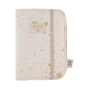 Nobodinoz - N098845 - Protège carnet de santé Poème 24x18 cm gold stella - natural (387468)
