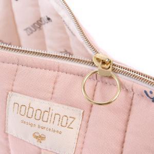 Nobodinoz - N105451 - Trousse de toilette Holiday 14x23 cm blue secrets - misty pink (387576)