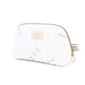 Nobodinoz - N105376 - Trousse de toilette Holiday 14x23 cm gold secrets - white (387580)