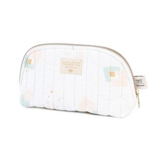 Nobodinoz - N105437 - Trousse de toilette Holiday 14x23 cm aqua eclipse - white (387594)