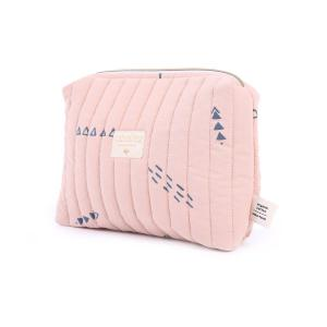 Nobodinoz - N105758 - Trousse de toilette Travel 18x25x17 cm blue secrets - misty pink (387636)