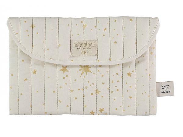 Pochette bagatelle 19x27 cm gold stella - natural
