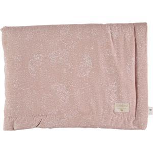 Nobodinoz - N101811 - Couverture Laponia 100x140 cm white bubble - misty pink (387864)