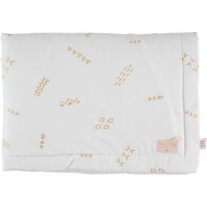 Nobodinoz - N101804 - Couverture Laponia 100x140 cm gold secrets - white (387878)
