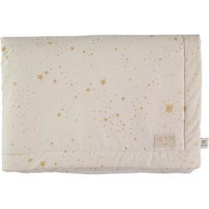Nobodinoz - N101927 - Couverture Laponia 100x140 cm gold stella - natural (387886)