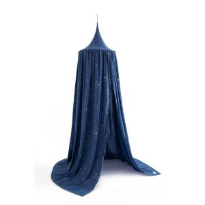 Nobodinoz - N108087 - Ciel de lit Amour stella 250x50 cm gold stella - night blue (388140)