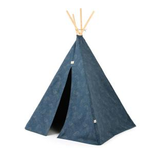 Nobodinoz - N104164 - Tipi Phoenix 149 h x101 gold bubble - night blue (388188)